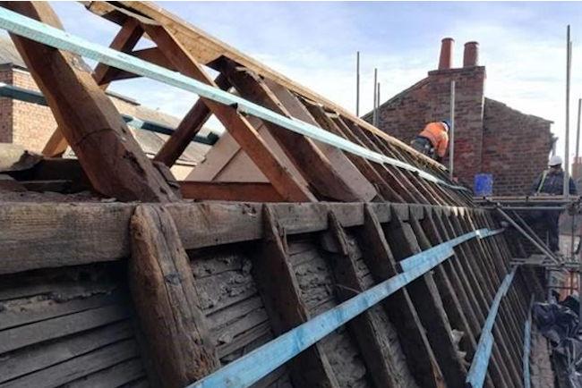Crumbs - new roof beams